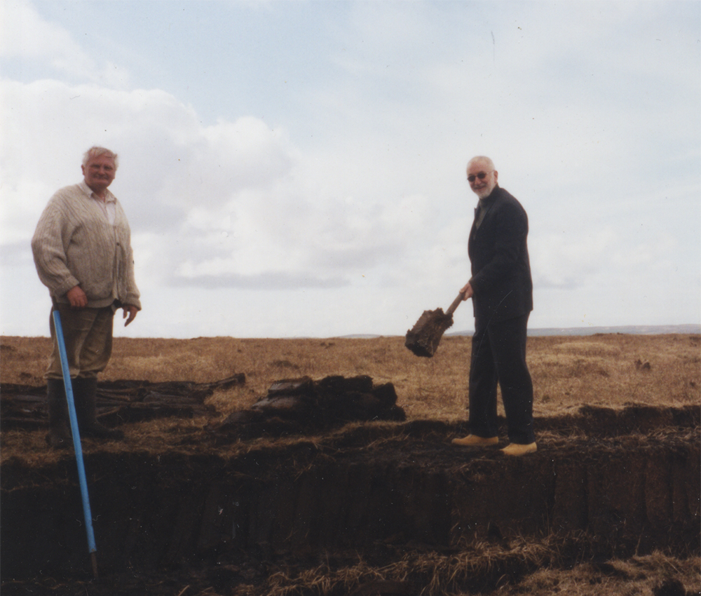 digging peat in Scotland
